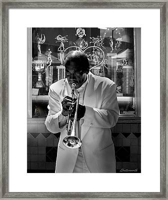 Jazz Man Framed Print by Larry Butterworth