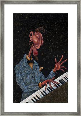 Jazz Man Framed Print by Ned Shuchter