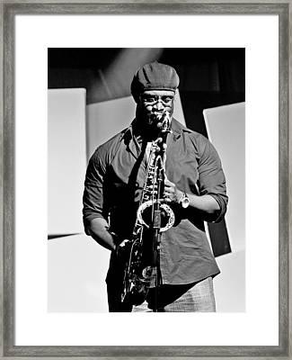 Jazz Musician Framed Print by Achmad Bachtiar