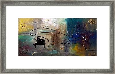 Jazz Night Framed Print by Carmen Guedez