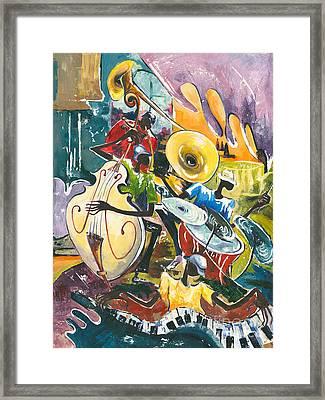 Jazz No. 4 Framed Print by Elisabeta Hermann