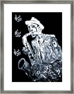 Jazz Notes Framed Print by Dan Sproul