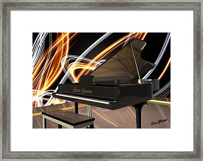 Jazz Piano Bar Framed Print