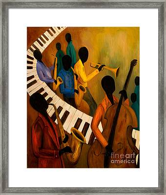 Jazz Quintet And Friends Framed Print