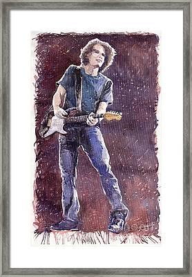Jazz Rock John Mayer 01 Framed Print by Yuriy  Shevchuk