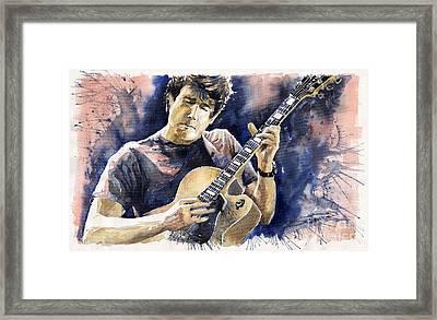 Jazz Rock John Mayer 06 Framed Print