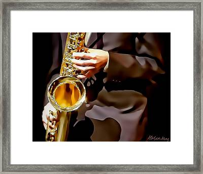 Jazz Sax Player Framed Print