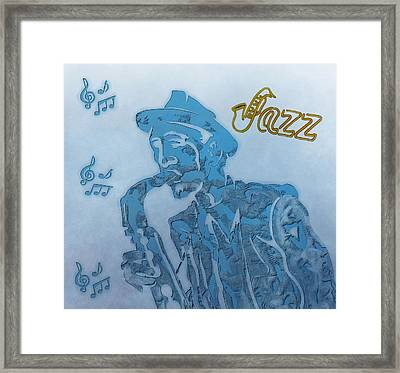 Jazz Saxophone Framed Print by Dan Sproul