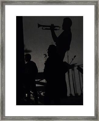 Jazz Shadows Framed Print