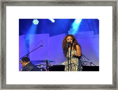 Jazz Singer Framed Print by Achmad Bachtiar
