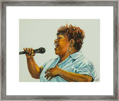 Jazz Singer Framed Print by Sharon Sorrels