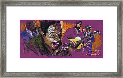 Jazz Songer Framed Print by Yuriy  Shevchuk