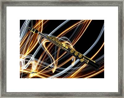 Jazz Soprano Sax Framed Print by Louis Ferreira