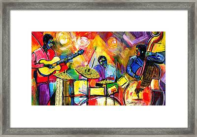 Jazz Trio Framed Print by Everett Spruill
