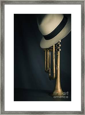 Jazz Trumpet Framed Print by Carlos Caetano