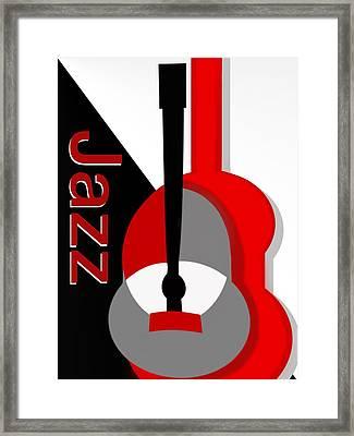 Jazz Vibe Framed Print by Christine Fournier