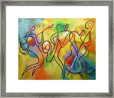 Jazzband 21 Framed Print by Leon Zernitsky