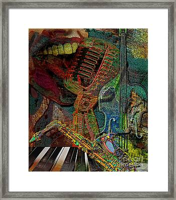 Jazzing Up The Place Framed Print by Reggie Duffie