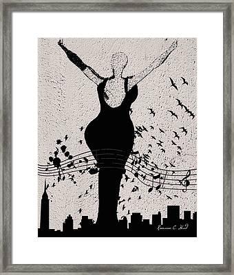 Jazzinthesky Framed Print by Romaine Head