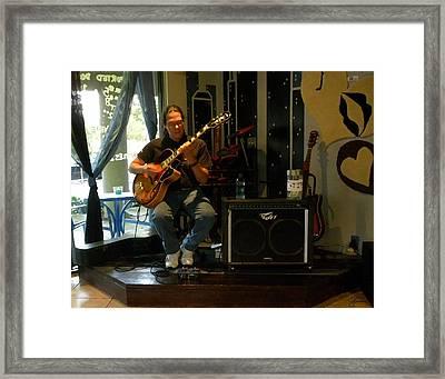 Jazzman Jorge - Limehouse Blues Framed Print by Shawn Lyte
