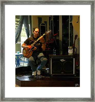 Jazzman Jorge - Night And Day Framed Print by Shawn Lyte