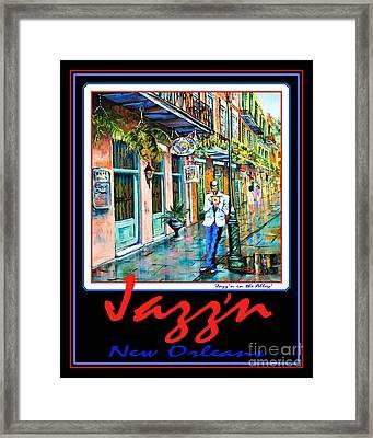 Jazz'n New Orleans Framed Print by Dianne Parks