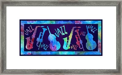 Jazzy Combo Framed Print by Jenny Armitage