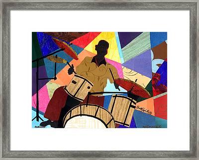 Jazzy Drummer Framed Print