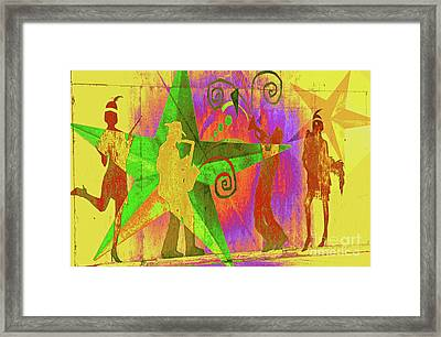 Jazzy Framed Print by Molly McPherson