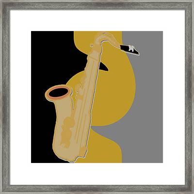 Jazzy Sax Framed Print by Pharris Art