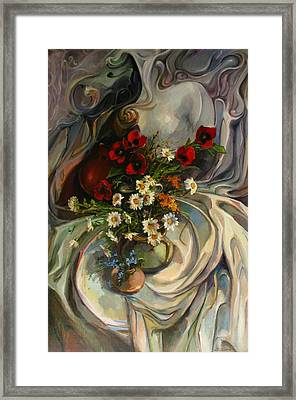Framed Print featuring the painting Jazzy Still-life by Tigran Ghulyan