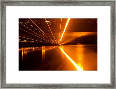 Jazzy Traffic Framed Print