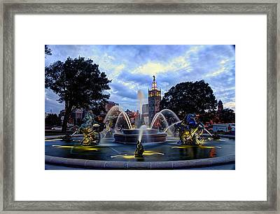 J. C. Nichols Fountain Framed Print