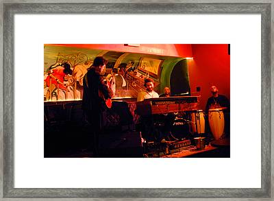 Jc Stylles At Mintons Playhouse Harlem Usa Framed Print by Steve Archbold