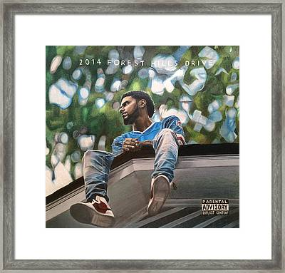 J.cole - 2014 Forest Hills Drive Drawing Framed Print by Angelee Borrero