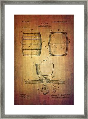 J.c.roth Beer Keg Patent From 1898 Framed Print by Eti Reid