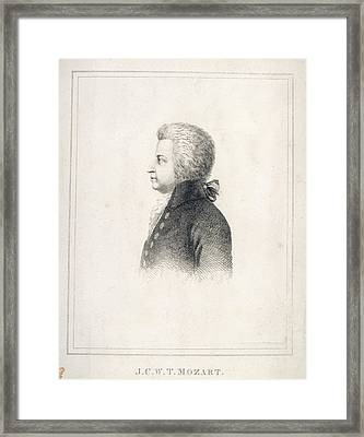 J.c.w.t. Mozart Framed Print by British Library