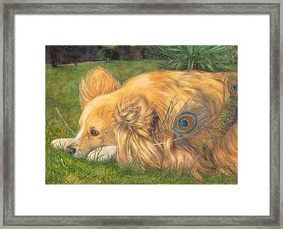 Jealous Jessie Framed Print by Emily Hunt and William Holman Hunt