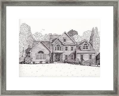Jean And John's House  Framed Print