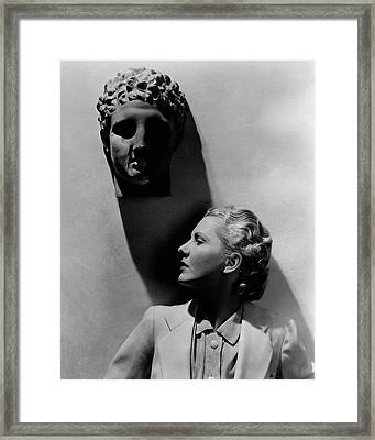 Jean Arthur Under A Bust Framed Print by Lusha Nelson