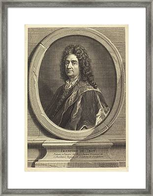 Jean-baptiste De Poilly After Francois De Troy French Framed Print by Quint Lox