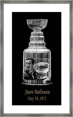Jean Beliveau 1 Framed Print by Andrew Fare