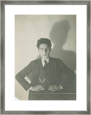 Jean Cocteau With His Hands On His Hips Framed Print by Delphi