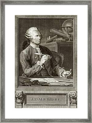 Jean D'alembert Framed Print by Emmet Collection Of Manuscripts/new York Public Library