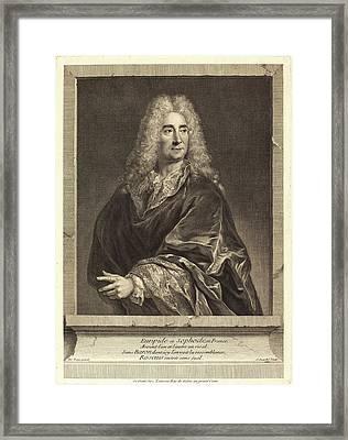 Jean Daullé After Francois De Troy, French 1703-1763 Framed Print by Litz Collection