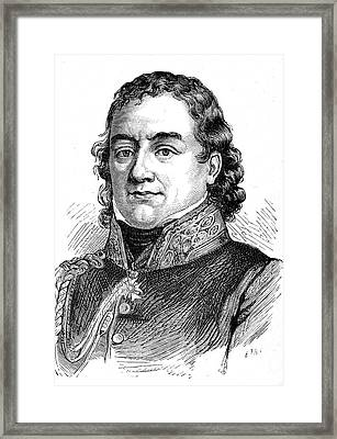 Jean Dominique Larrey Framed Print by Collection Abecasis