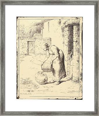 Jean-françois Millet French Framed Print by Litz Collection