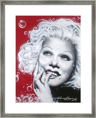 Jean Harlow Framed Print by Alicia Hayes