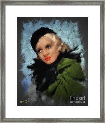 Jean Harlow Framed Print by Arne Hansen