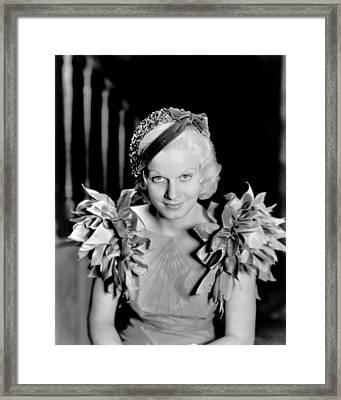 Jean Harlow, Modeling A Blue Taffeta Framed Print